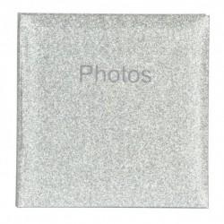 Album Foto 200 Bolsillos 10X15Cm Glitter Silver