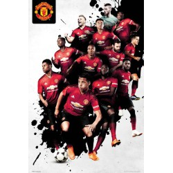 Poster Manchester United Players 18-19