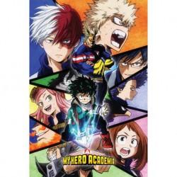 Poster My Hero Academia Mosaico Personajes