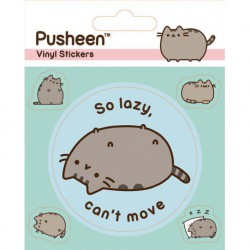 Sticker Vinilo Pusheen Lazy