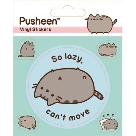Sticker Vinilo Pusheen Lazy