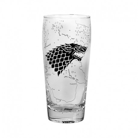 Vaso Pilsner Game Of Thrones King In The North