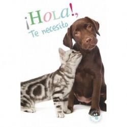 Tarjeta Felicitacion ¡Hola!, Te Necesito