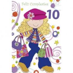 Tarjeta Felicitacion Feliz Cumpleaños 10