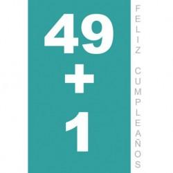 Tarjeta Felicitacion Feliz Cumpleaños 50