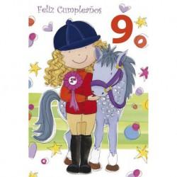 Tarjeta Felicitacion Feliz Cumpleaños 9