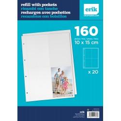 Recambio Album Foto De 40 Paginas De 4 Bolsillos 10X15Cm
