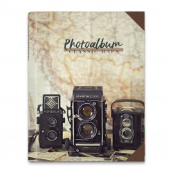 Album Foto 24X32Cm 30 Paginas Autoadhesivas Classic Map
