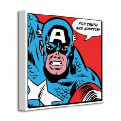 Cuadro Canvas 40X40 Marvel Capitan America
