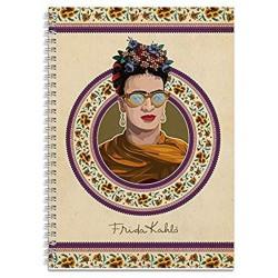 Cuaderno Tapa Forrada A4 Pautado Frida Kahlo