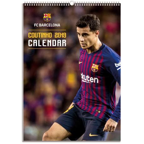 Calendario Bimensual Fc Barcelona 2019 Coutinho