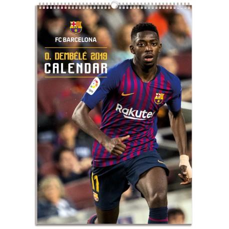Calendario Bimensual Fc Barcelona 2019 Dembele