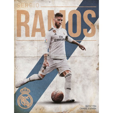 Print 30X40 Cm Real Madrid Ramos