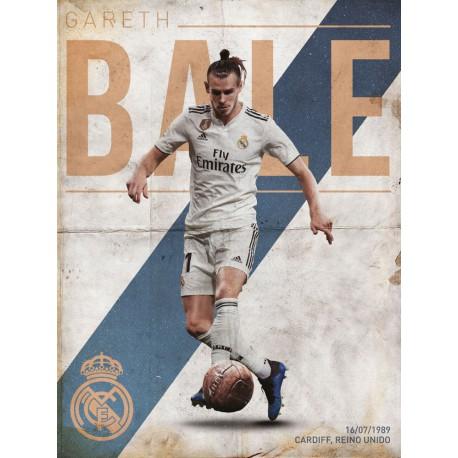 Print 30X40 Cm Real Madrid Bale