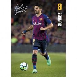 Postal A4 Fc Barcelona 2018/2019 Luis Suarez Accion