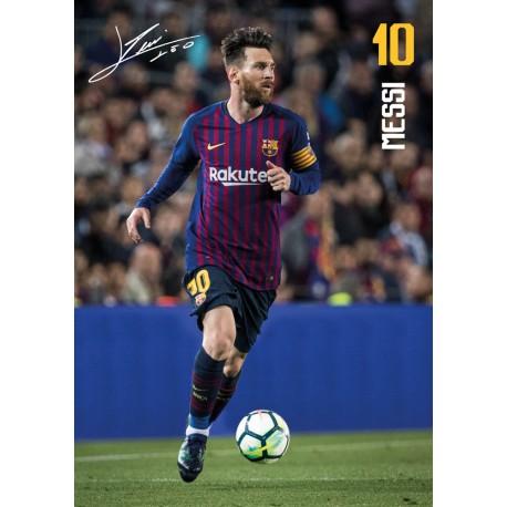Postal A4 Fc Barcelona 2018/2019 Messi Accion