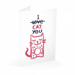 Tarjeta Felicitacion I Cat You