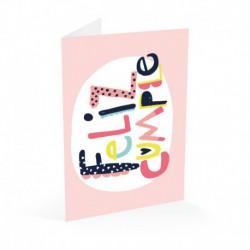 Tarjeta Felicitacion Feliz Cumple Letters