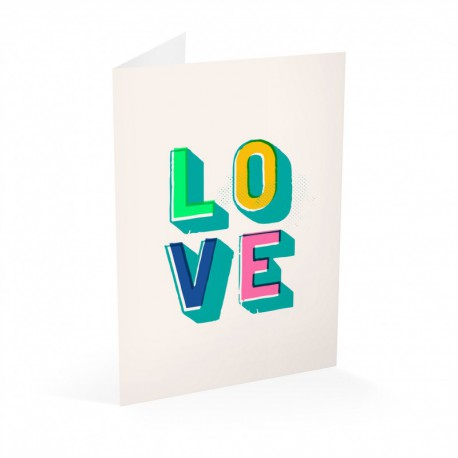 Tarjeta Felicitacion Love Pop