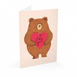 Tarjeta Felicitacion Teddy Love
