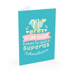 Tarjeta Felicitacion Enhorabuena Carouge
