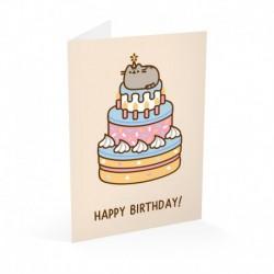 Tarjeta Felicitación Pusheen Cumpleaños 2