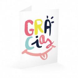 Tarjeta Felicitacion Smile Gracias