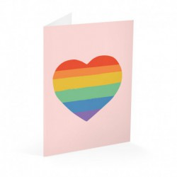 Tarjeta Felicitacion Rainbow Lover