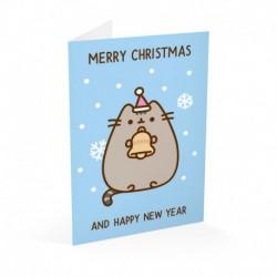 Tarjeta Felicitación Pusheen Navidad 2