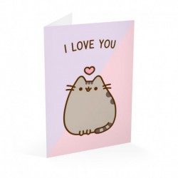 Tarjeta Felicitación Pusheen San Valentin 1