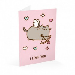 Tarjeta Felicitación Pusheen San Valentin 2