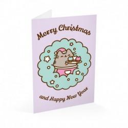 Tarjeta Felicitación Pusheen Navidad 1