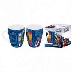 Taza Térmica Ceramica Avengers Assemble En Estuche