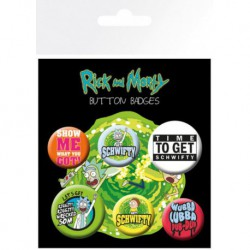 Pack Chapas Rick & Morty Quotes