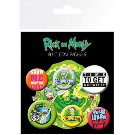 Pack Chapas Rick & Morty Quotes