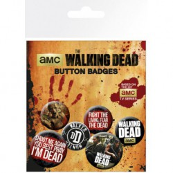 Pack Chapas Walking Dead Phrases