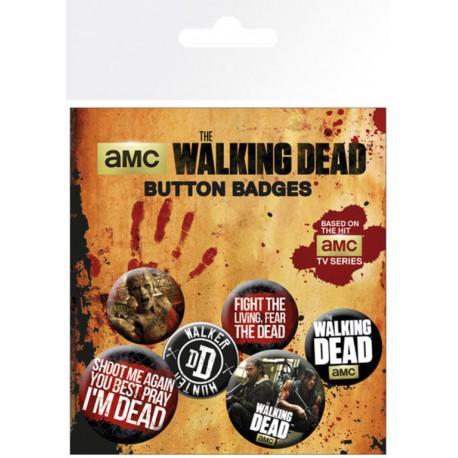 Pack Chapas Walking Dead Phrases