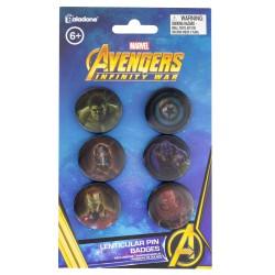 Pack De Chapas Lenticular Marvel Avengers Infinity War