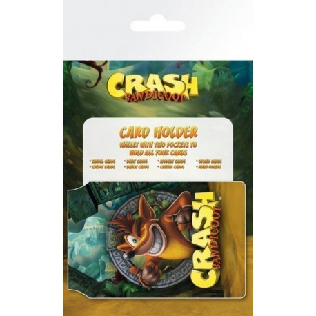 Tarjetero Card Holder Crash Bandicoot Logo