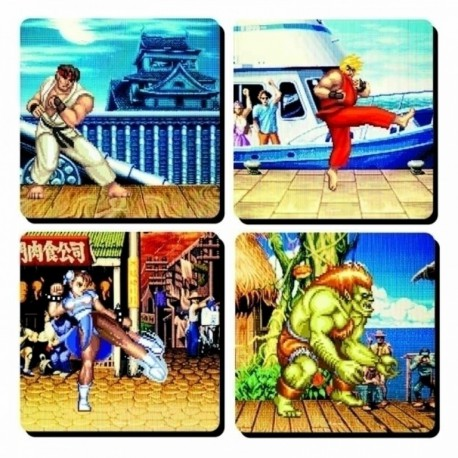 Set 4 Posavasos Lenticulares Capcom Team