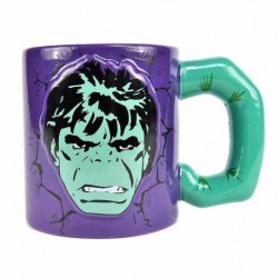 Taza Embossed Marvel Hulk