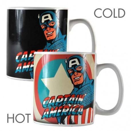 Taza Termocolora Marvel Captain America