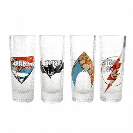 Vasos Set Of 4 Dc Comics Justice League