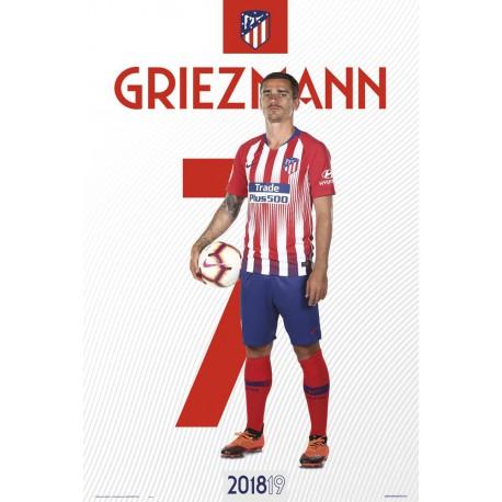 Poster Atletico De Madrid 2018/2019 Griezman