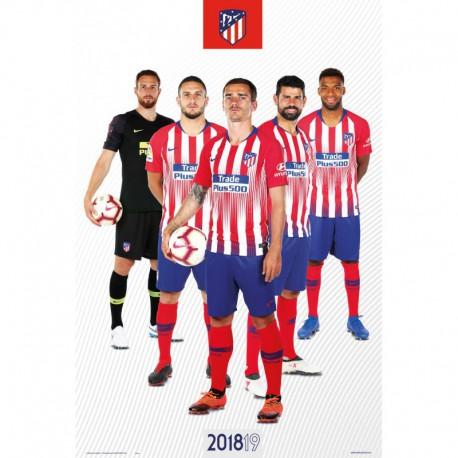 Poster Atletico De Madrid 2018/2019 Grupo