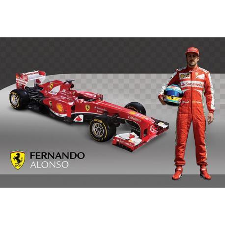 Poster Fernando Alonso y Ferrari F1 138