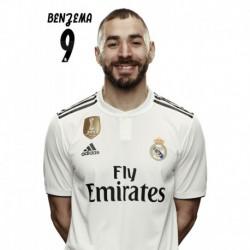Postal Real Madrid 2018/2019 Benzema BustoMundialito