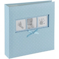 Album Foto 200 Bolsillos 10X15Cm + Memo Baby Polka Blue