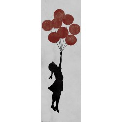Poster Puerta Brandalised Girl Floating Original