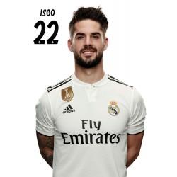 Postal Real Madrid 2018/2019 Isco Busto Mundialito